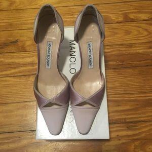 Manolo Blahnik Pink Pointed Heels 8